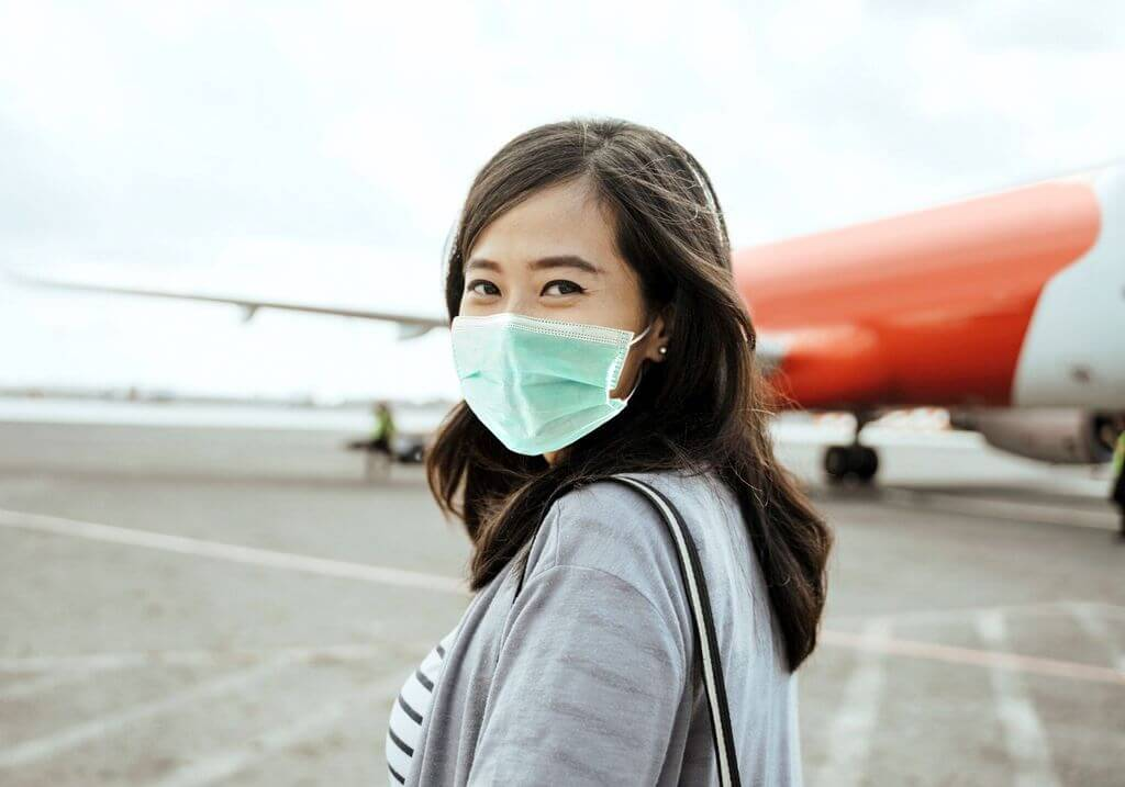 Face mask travel plane airport RF