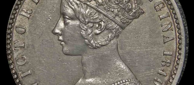 1849 British Queen Victoria Godless Florin
