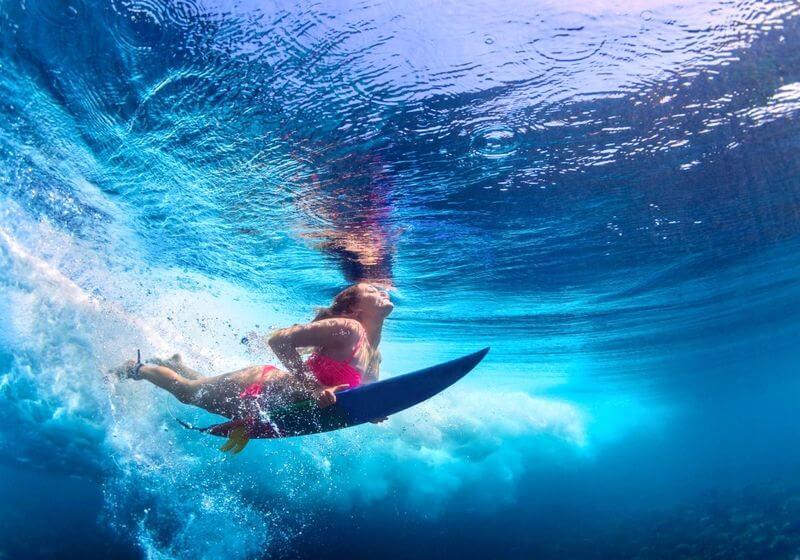 Surfing underwater RF