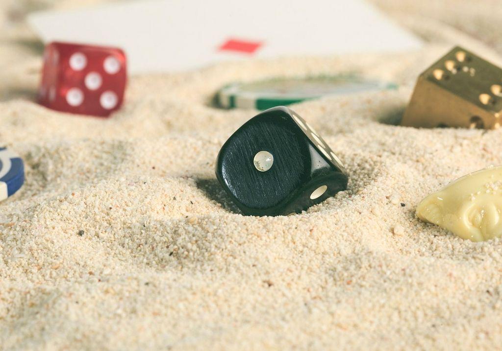 Beach casino cards sand RF