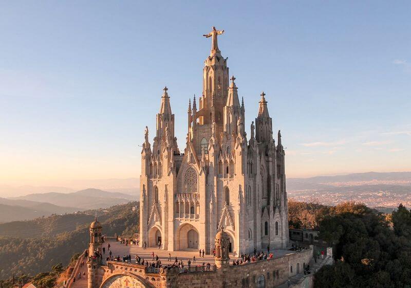 Mount Tibidabo Barcelona Church Spain RF