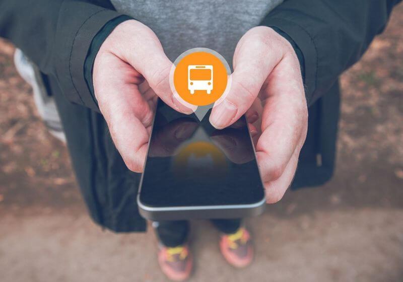 Phone bus ticket app RF