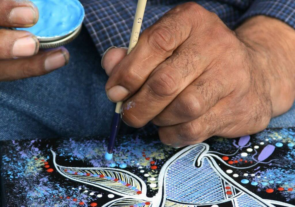 Aboriginal dot painting art Australia RF