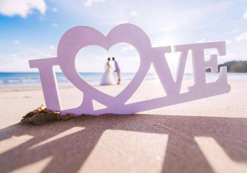 Beach wedding RF