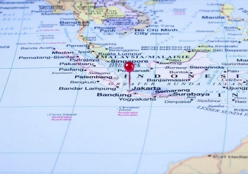 Jakarta Indonesia map RF