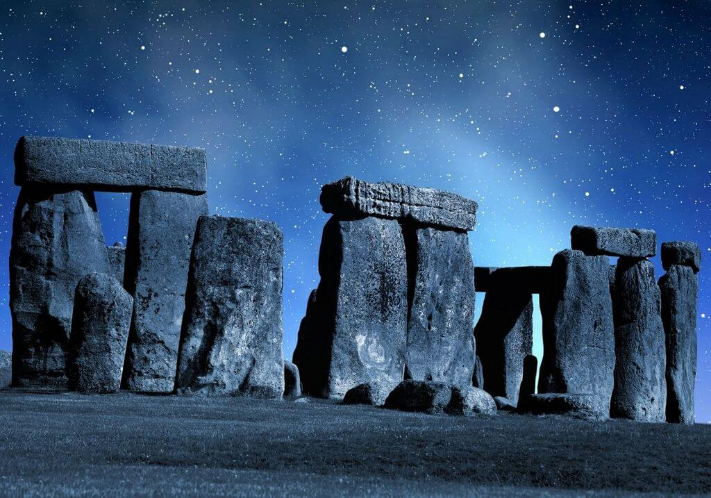 Stonehenge night stars RF