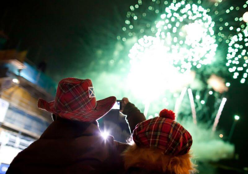 Hogmanay Fireworks Scotland RF