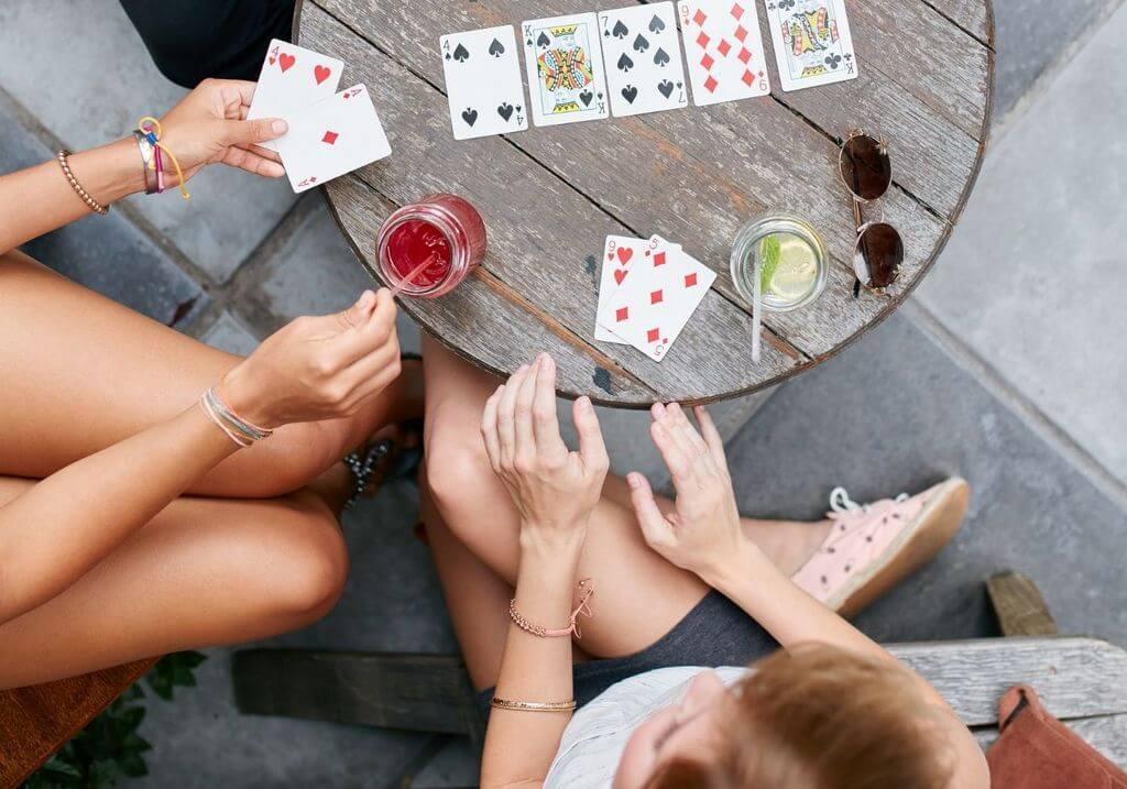 Poker card game cafe RF