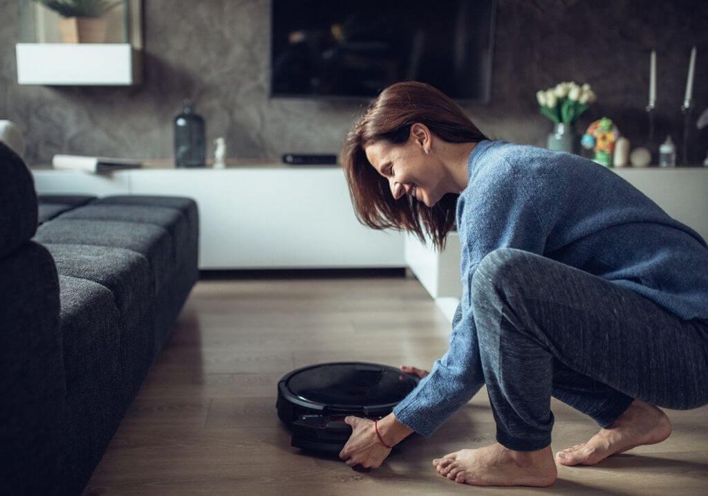 Robo vacuum mop home clean RF