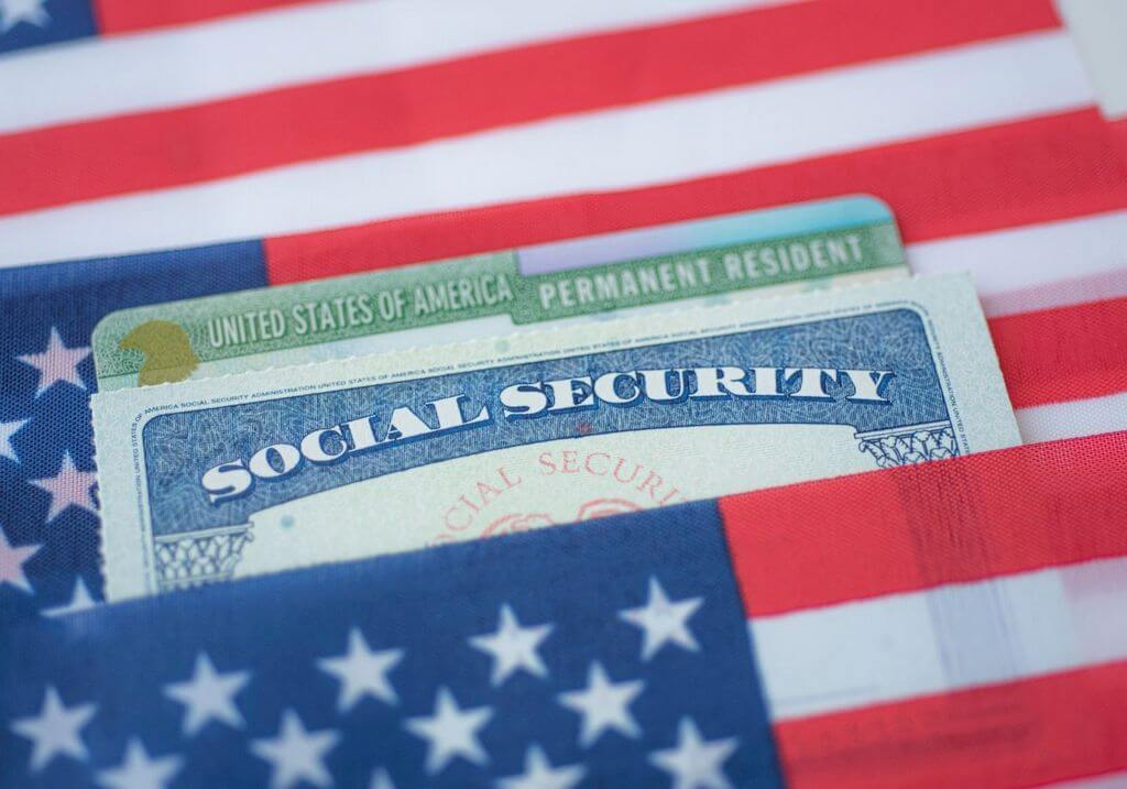 Social security green card America visa USA RF
