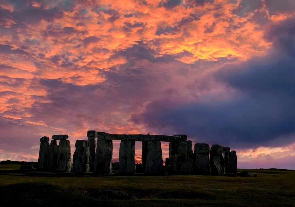 Stonehenge winter sunset sunrise RF