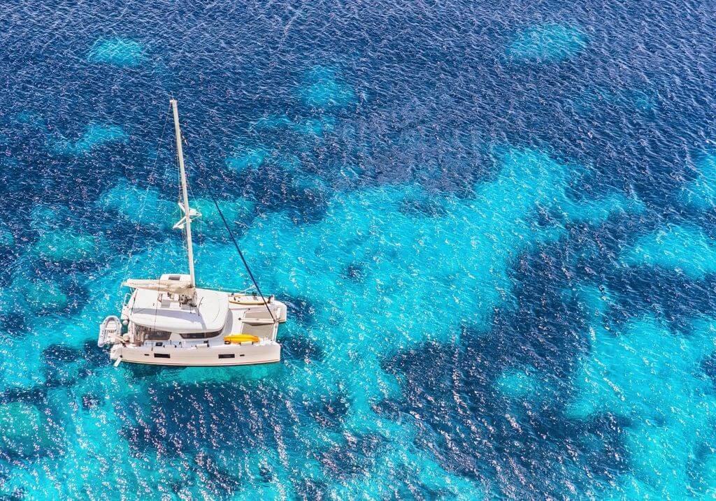 Catamaran boat water sail RF