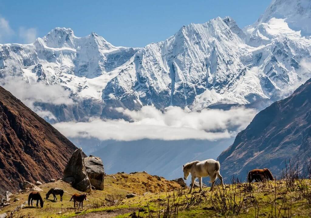 Manaslu Circuit Nepal Trek Mountains hiker RF
