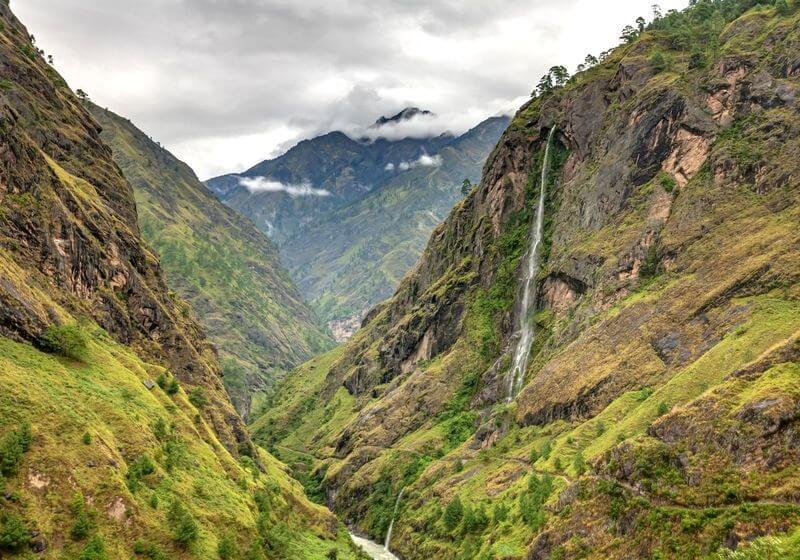Manaslu Circuit Trek green mountains RF