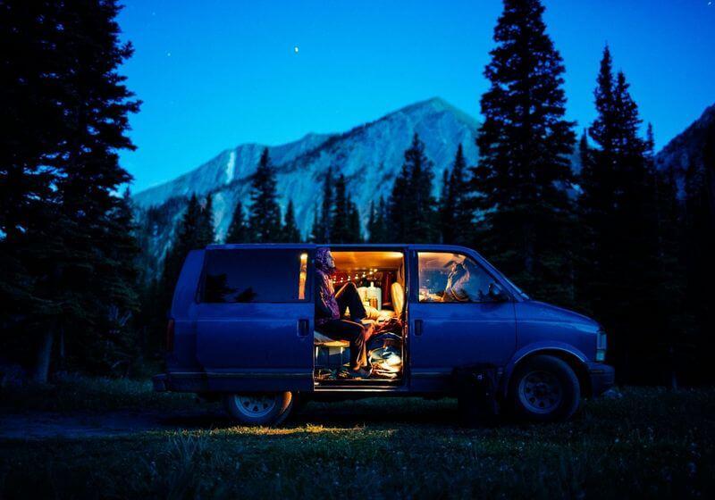 RV camper van night RF