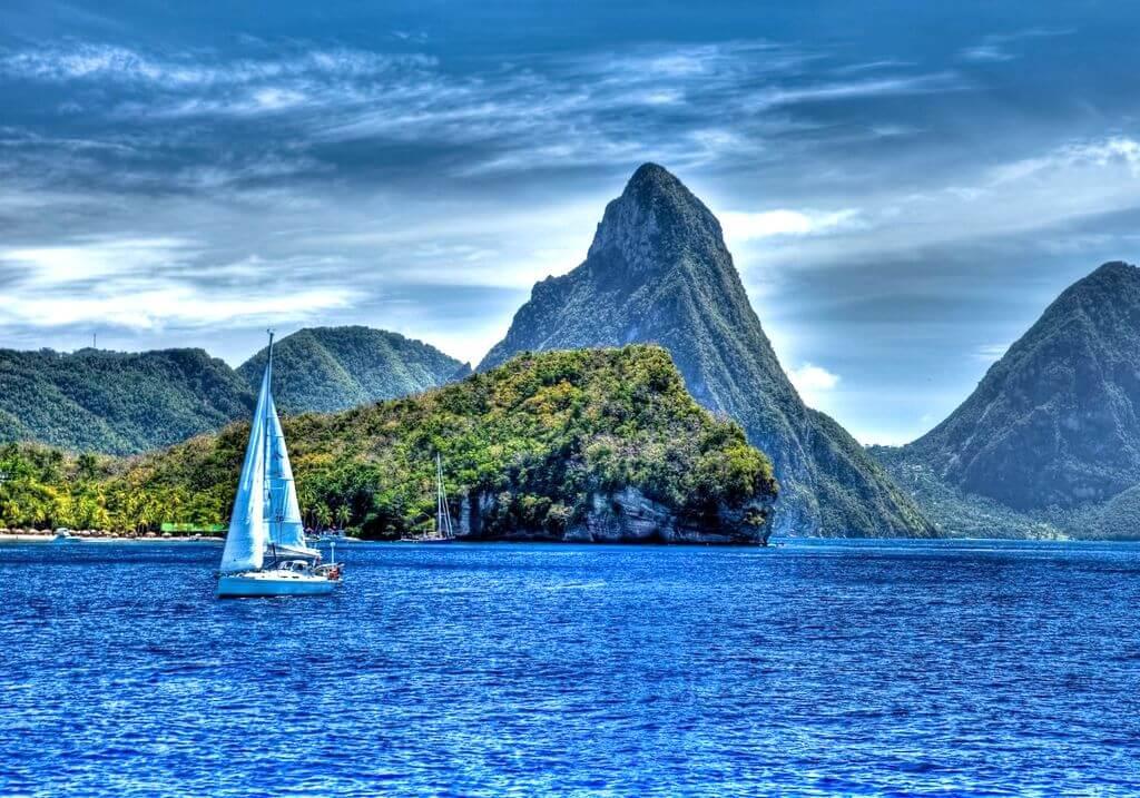 St Lucia Piton Sail Boat RF