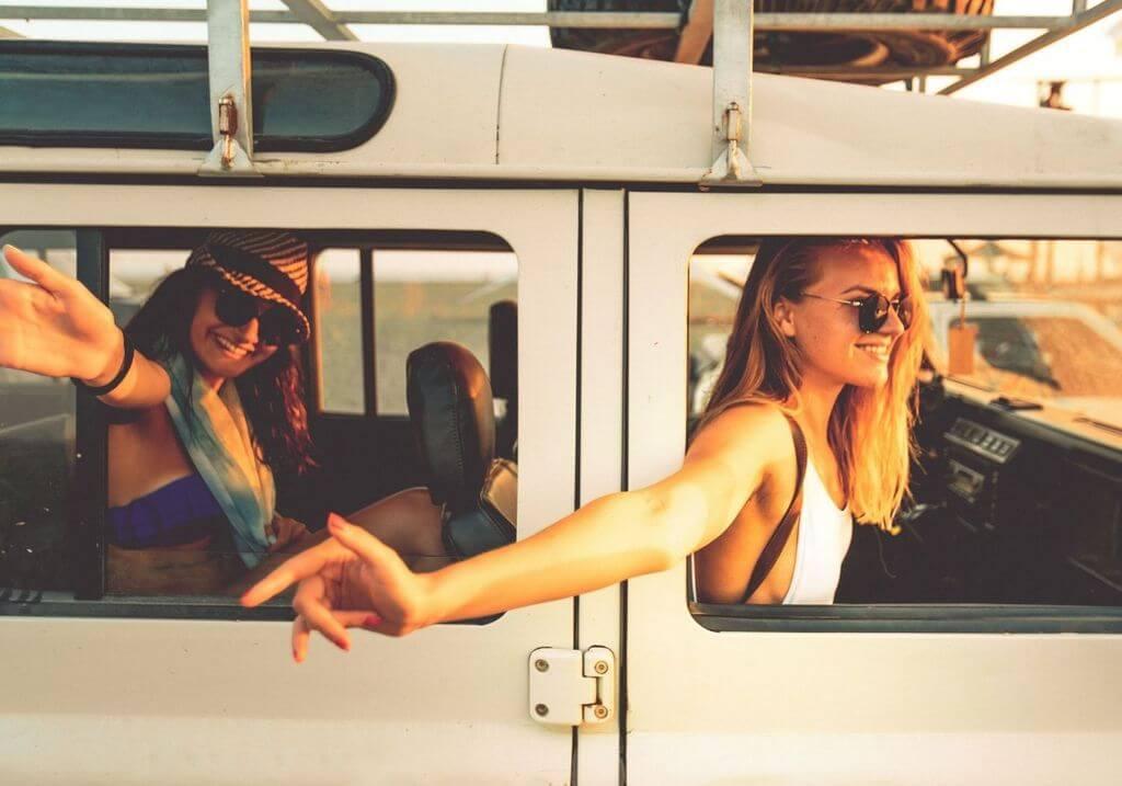 Summer roadtrip friends car RF