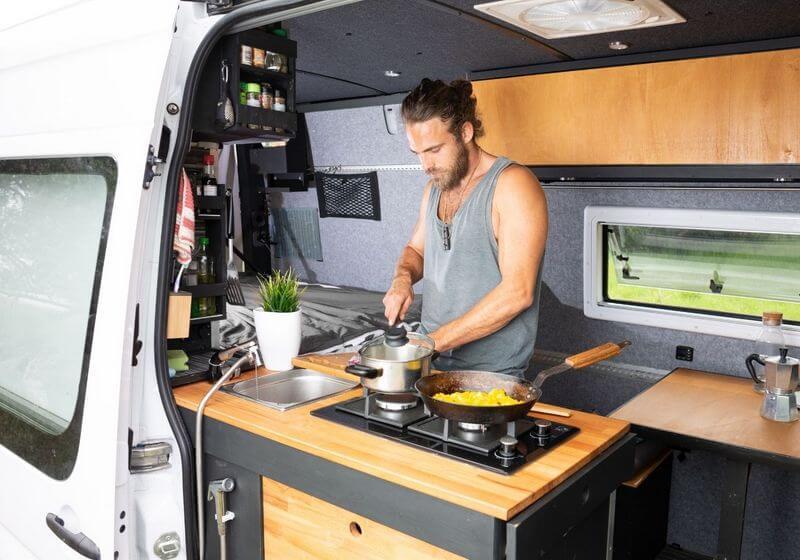 Van kitchen roadtrip cooking camper RF