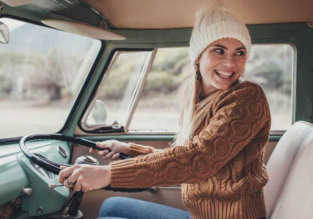 Woman drive van RF