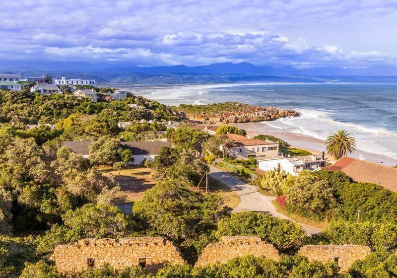 Beach town South Africa RF