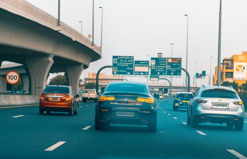 Dubai highway driving car RF