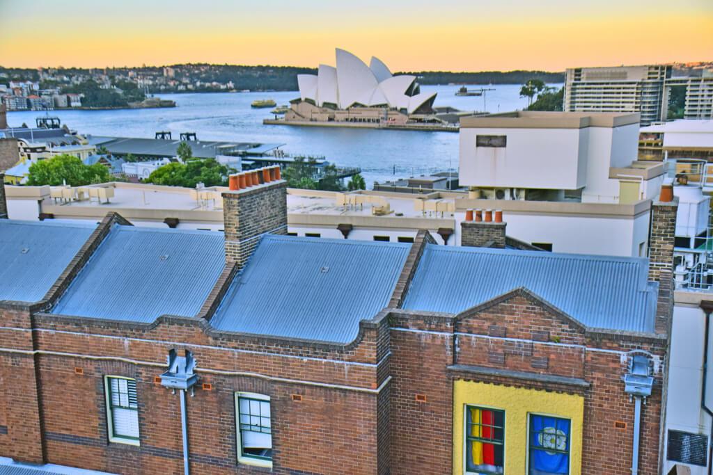Sydney Harbour YHA view over Sydney Opera House