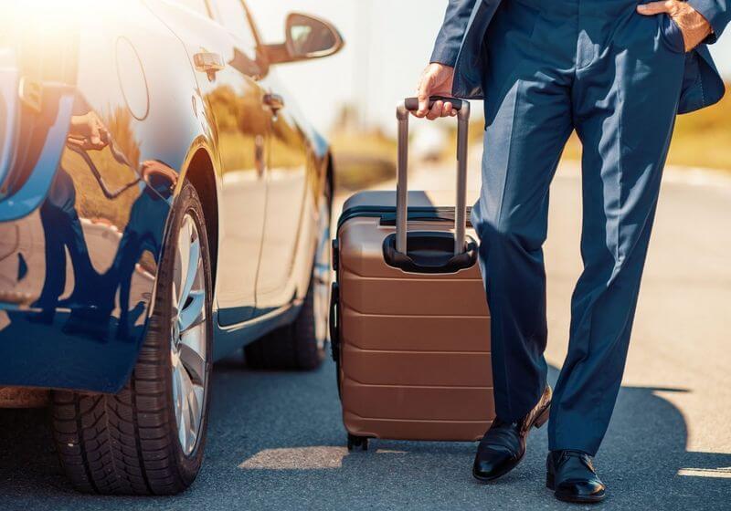 Business travel car drive RF