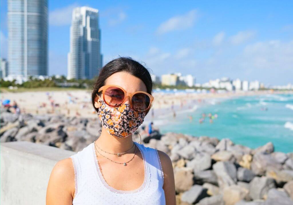 Beach mask COVID RF