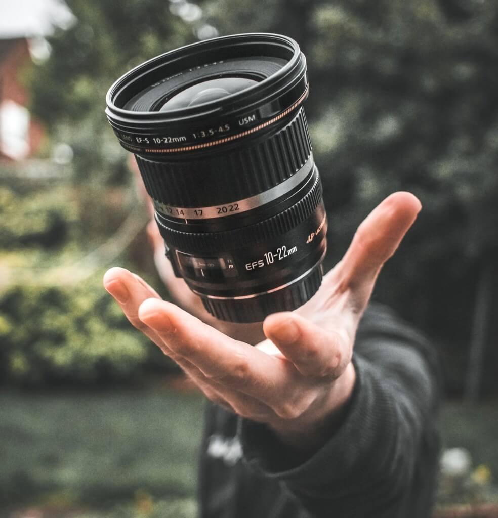 Camera lens photographer RF