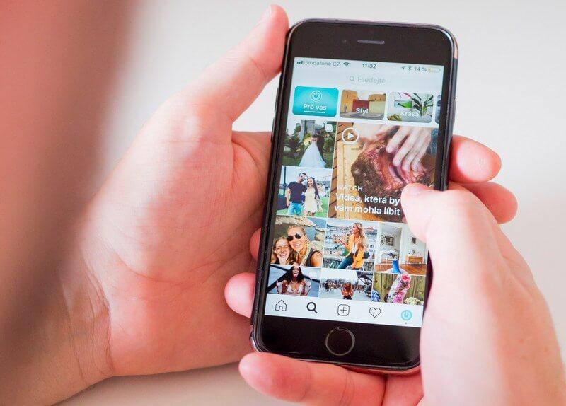 Instagram social media phone RF