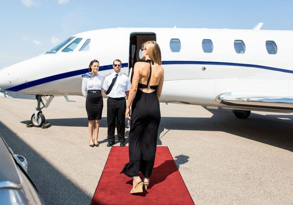 Private Jet airport plane RF