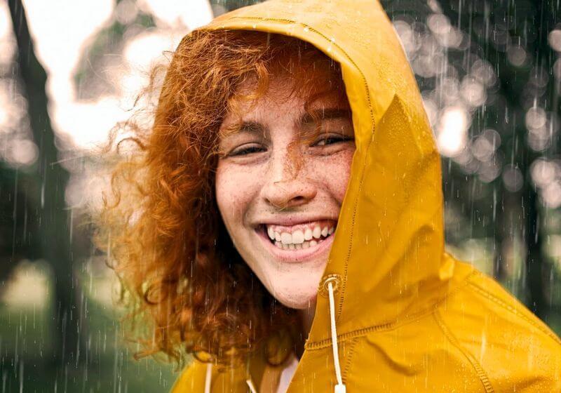 Female rain jacket RF