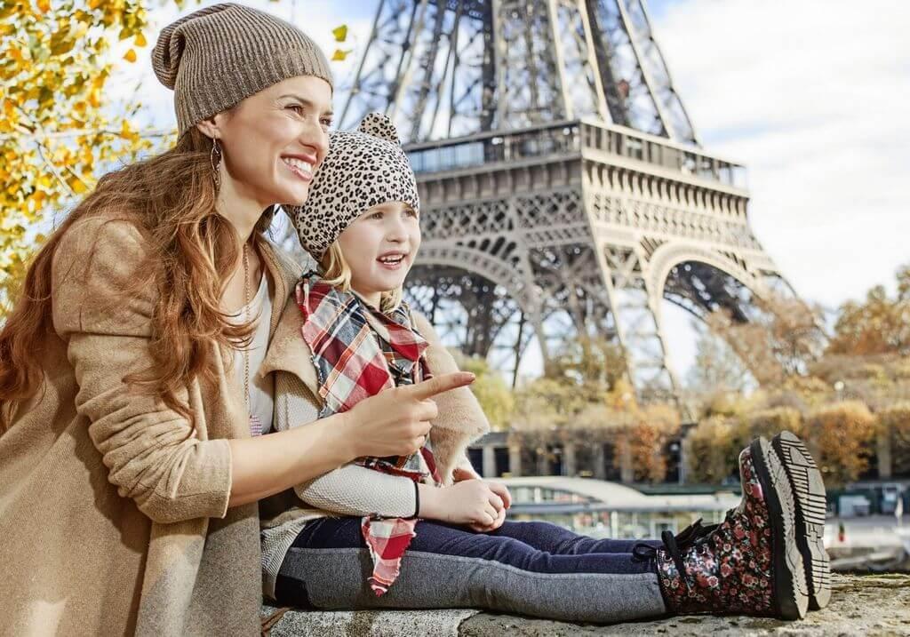France Paris Eiffel Tower Child RF