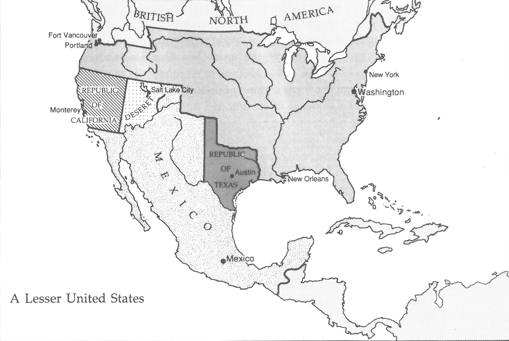 A Map Of The U S Without The Mexican American War 1 657