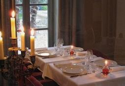 La Bastide de Boulbon dinner by candlelight