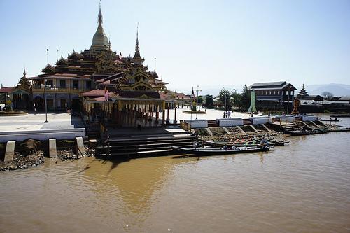 Pagoda on Inle Lake, Burma