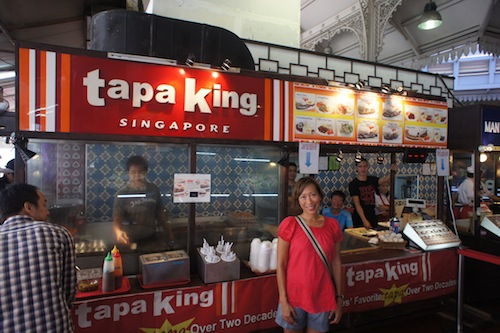 filipino food stall in lau pa sat