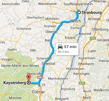 how to get to le chambard kaysersberg