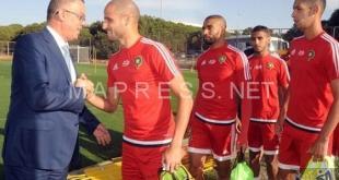 """لقجع يشدًد على دعم المنتخب المغربي معنويَا أمام """"الكاميرون"""""""
