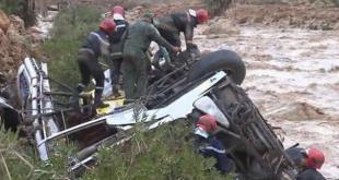 العثور على جثة رجل من المفقودين في فاجعة حافلة واد دمشان