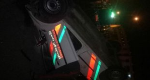 انقلاب سيارة تابعة للأمن الوطني في مدينة مراكش