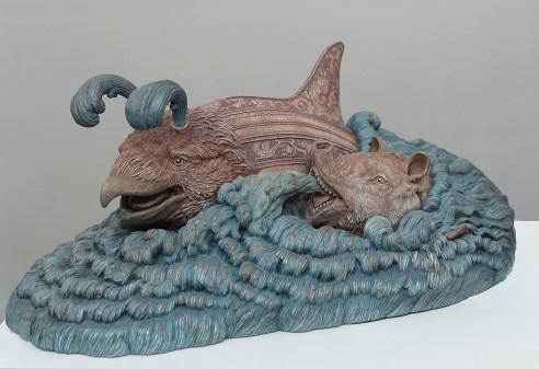 Bailey Henderson, Ziphius et Orca, 2014. Bronze. 17¾″×11¼″×7″.
