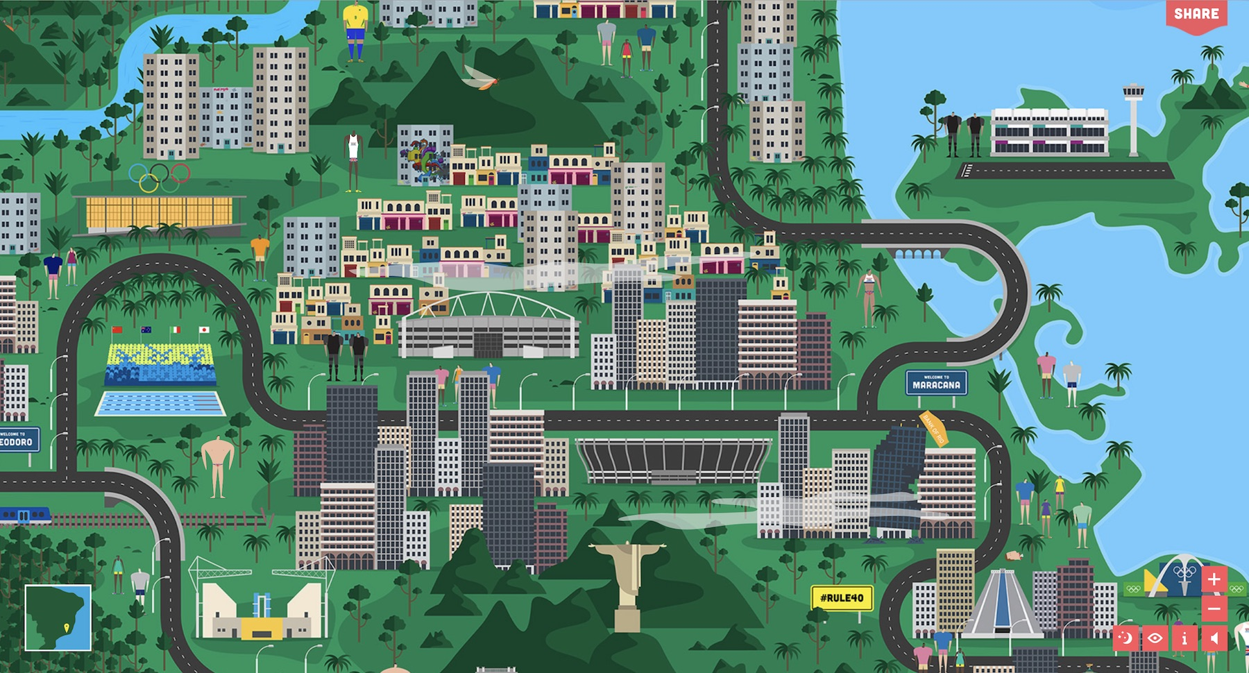 Mapping the Rio Olympics