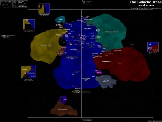 Christian Rühl, The Galactic Atlas: Local Space. Star Trek Dimension.