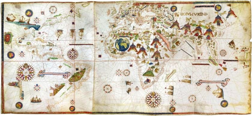 Vesconte Maggiolo Planiphere of 1531. Daniel Crouch Rare Books.