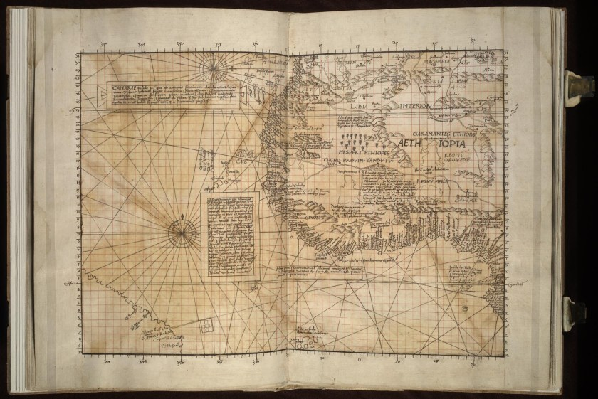 Manuscript Page from the 1516 Carta Marina. Jay I. Kislak Collection, Geography and Map Division, Library of Congress.