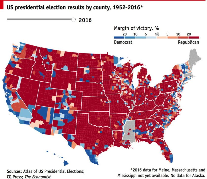 US Elections The Map Room - 2016 election us map