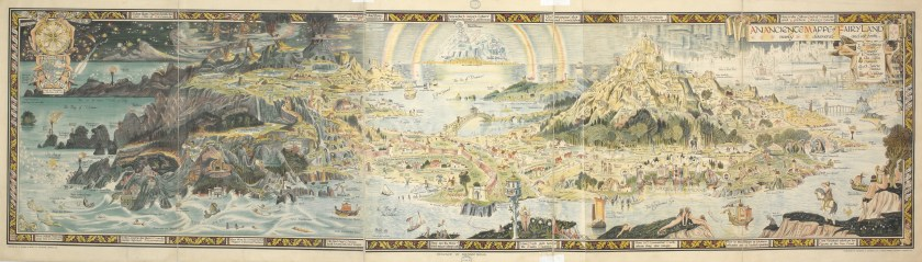 "Bernard Sleigh, ""An ancient mappe of Fairyland,"" 1918. British Library."