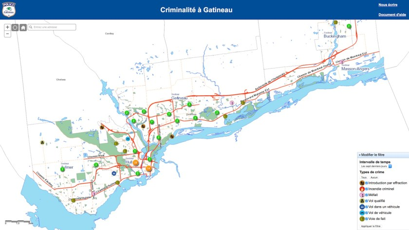 Gatineau Crime Map The Map Room - Gatineau map