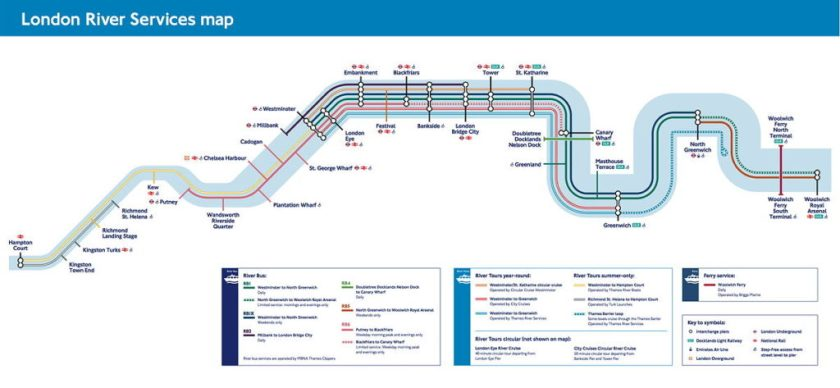 Simplified Map Of London.Tube Maps Of The Thames The Map Room